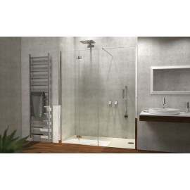 Porta A Soffietto Con Fisso In Linea Cromo Sx Trasp 97/101Cm H195-Box Docce 2B-H7ASCTR0-20