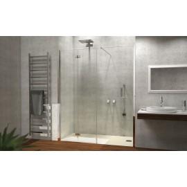 Porta A Soffietto Con Fisso In Linea Satinato Dx Satinato 157/161Cm H195-Box Docce 2B-H7DDSSA0-20