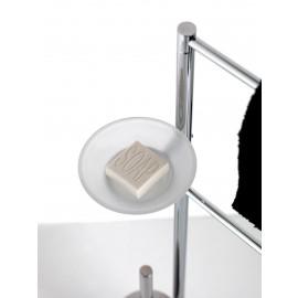 Piantana Dosatore-Salviette-Rotolo-Scop./Cromo Vetro Satinato Hoop Capannoli-Capannoli G F-HP179_VS35-20
