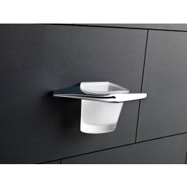 Mu Porta Bicchiere/Cromo Vetro Satinato Capannoli-Capannoli G F-MU103_VS33-20