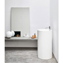Lavabo Ovvio Freestanding C/F Sc.Pavimento 45X85H Colorato-Nic Design Srl-NIC.001_452-20