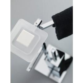 Piantana Sapone/Rotolo/Salvietta/Scopino/Cromo Ceramica Bianco Quadrica Base 18X18 Capannoli-Capannoli G F-Q175_CB33-20