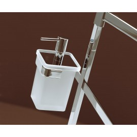 Piantana Dosatore/Salvietta/Rotolo/Scop./Cromo Vetro Trasparente Slim Base 18X22 Capannoli-Capannoli G F-SL179_VT33-20