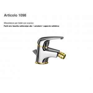 Miscelatore Bidet Cromo/Oro Beta Gaboli Fratelli-1098_Cromo/Oro-20