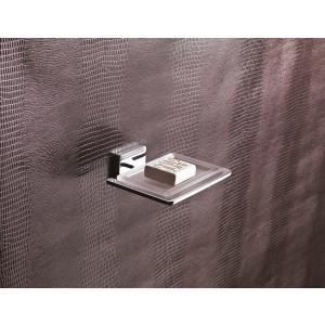 Flat Porta Sapone Singolo/Cromo Resina Bianco Capannoli-FL102_RB33-20
