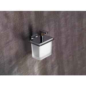 Flat Dosatore Di Sapone Liquido/Cromo Resina Bianco Capannoli-FL116_RB33-20
