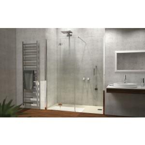 Porta A Soffietto Con Fisso In Linea Cromo Dx Satinato 117/121Cm H195-H7BDCSA0-20