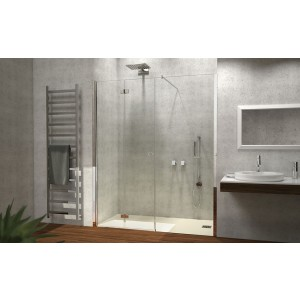 Porta A Soffietto Con Fisso In Linea Cromo Sx Trasp 97/101Cm H195-H7ASCTR0-20
