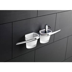 Mu Porta Bicchiere/Dosatore/Salviette/Cromo Vetro Satinato Capannoli-MU1524_VS33-20