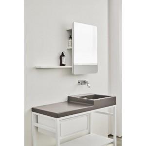 Specchio retro illuminato con mensola Faggio Decapato-NIC.012_395-20