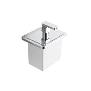 Strip Dosatore Di Sapone Liquido/Cromo Resina Bianco Capannoli-SX116_RB33-20