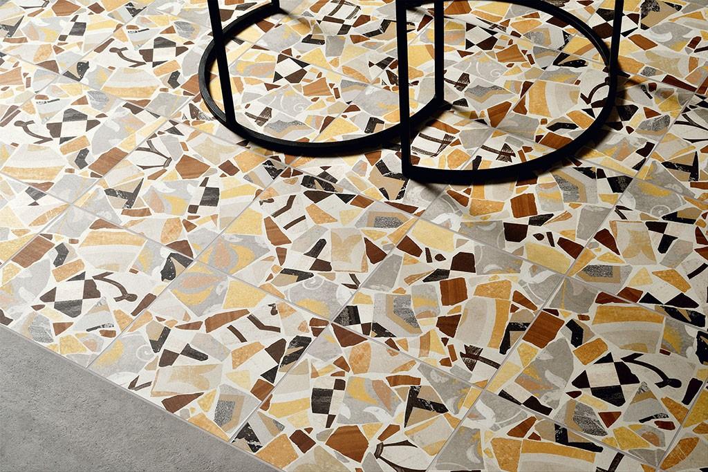 Cementine cocci collection ceramica fioranese effetto cementine